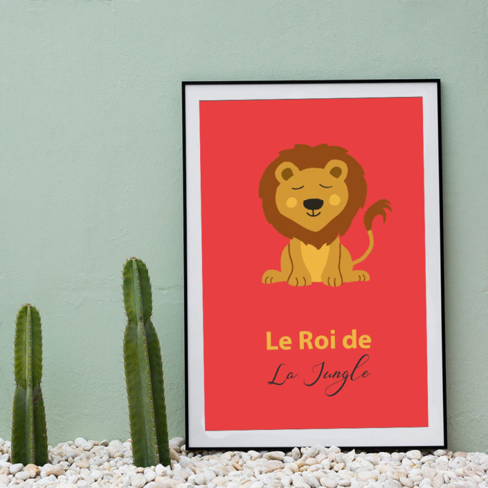 Illustration Lion Roi de la Jungle
